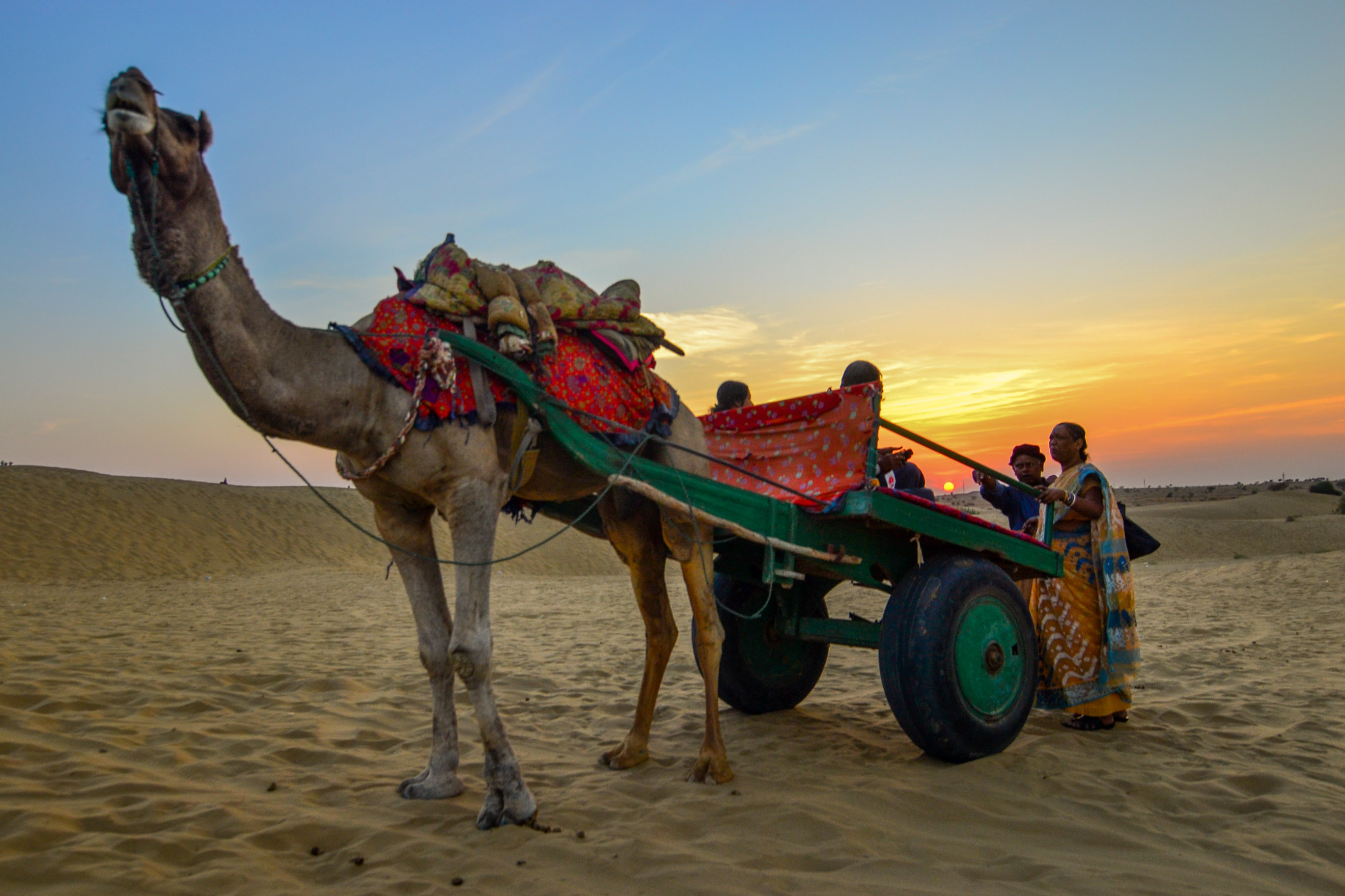 Sunset in Thar Desert – Jaisalmer, Rajasthan, India