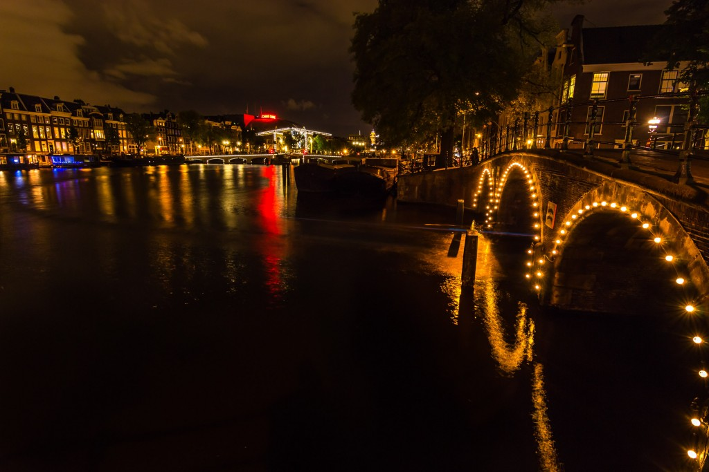 Facing the Magere Brug by the Amstel
