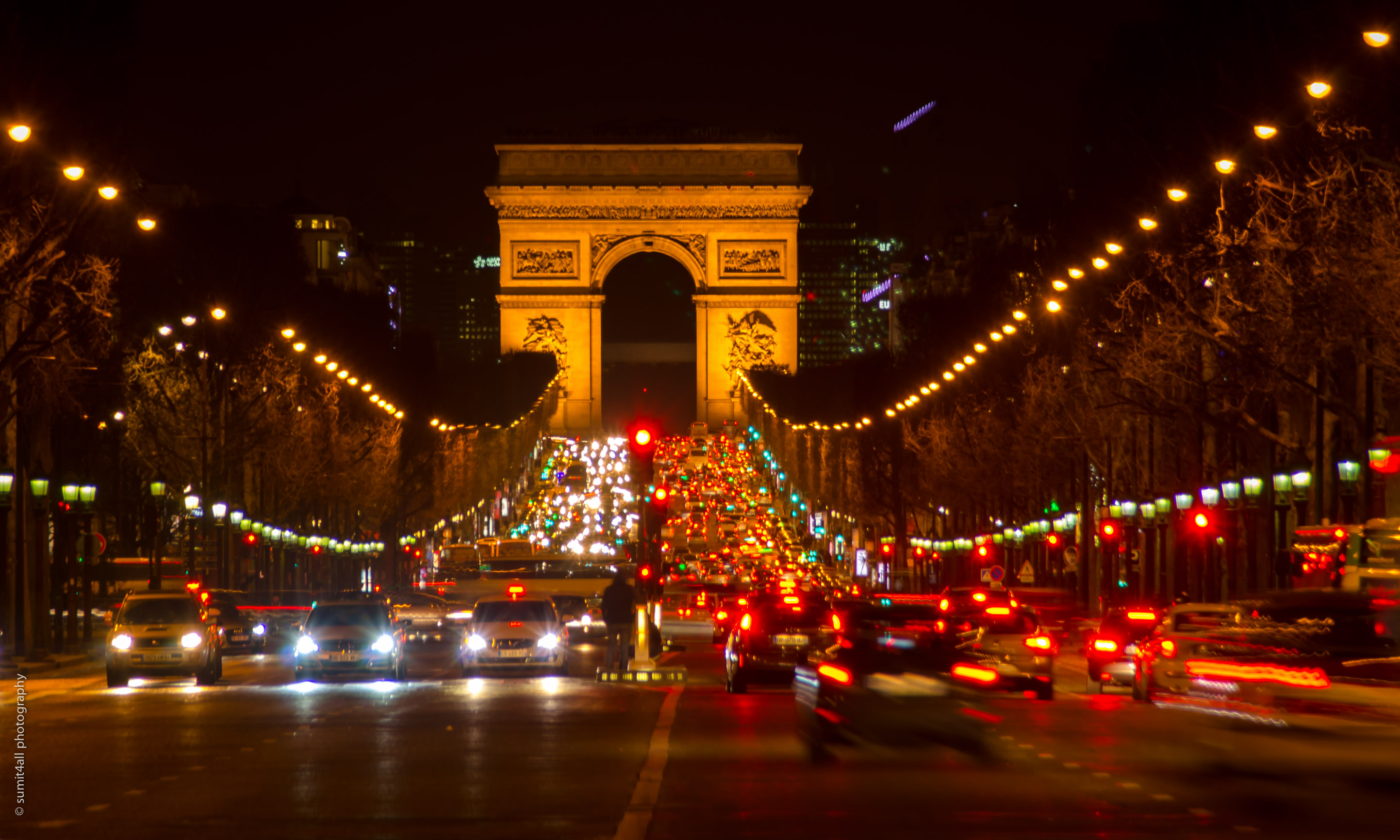 The Arc De Triomphe Paris
