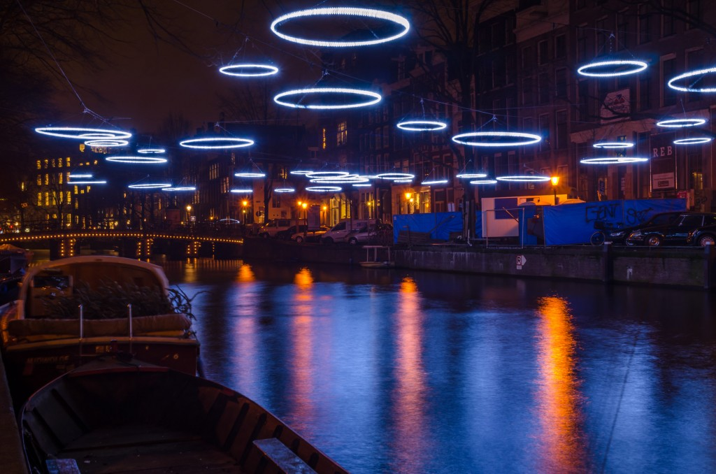 Concentric Rings of Light on display during the Light Festival in 2014