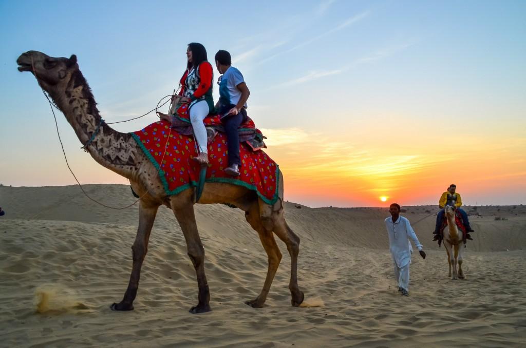 Camel Safari near Jaisalmer, Rajasthan
