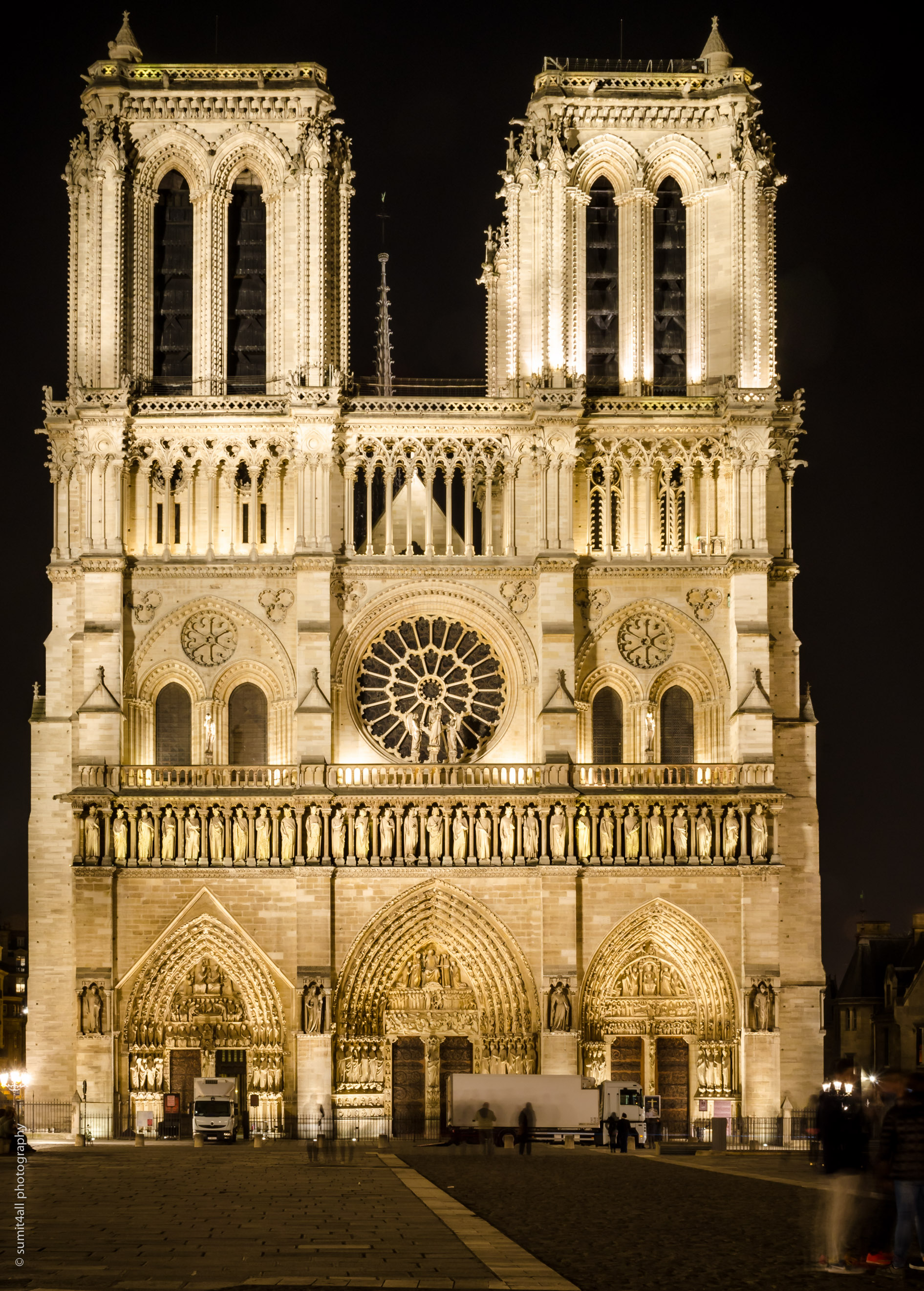 The Front Facade of the Notre Dame