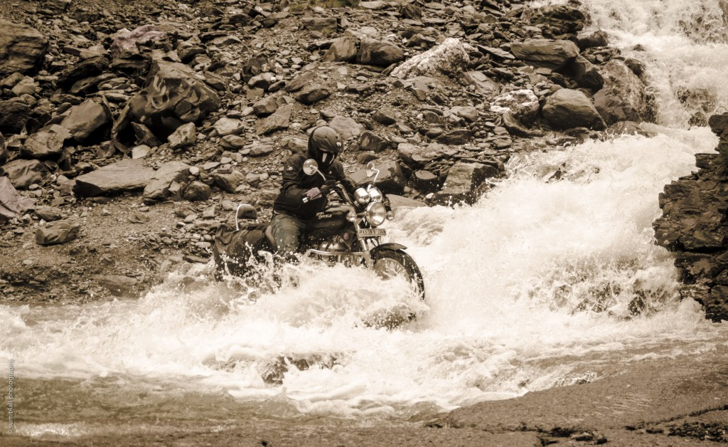 The journey includes many such water crossings