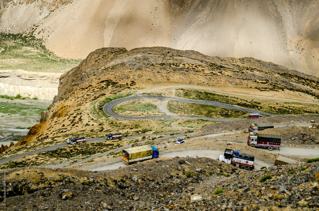 Ladakh is a dry and cold desert