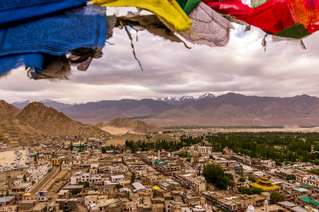 The scene from atop the Leh Palace