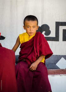 A young monk at the Hemis Monastery in Leh
