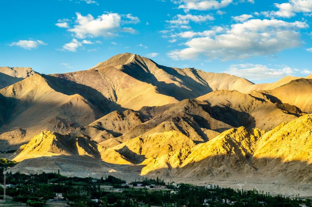 Amazing colors of sunset near Leh, Ladakh