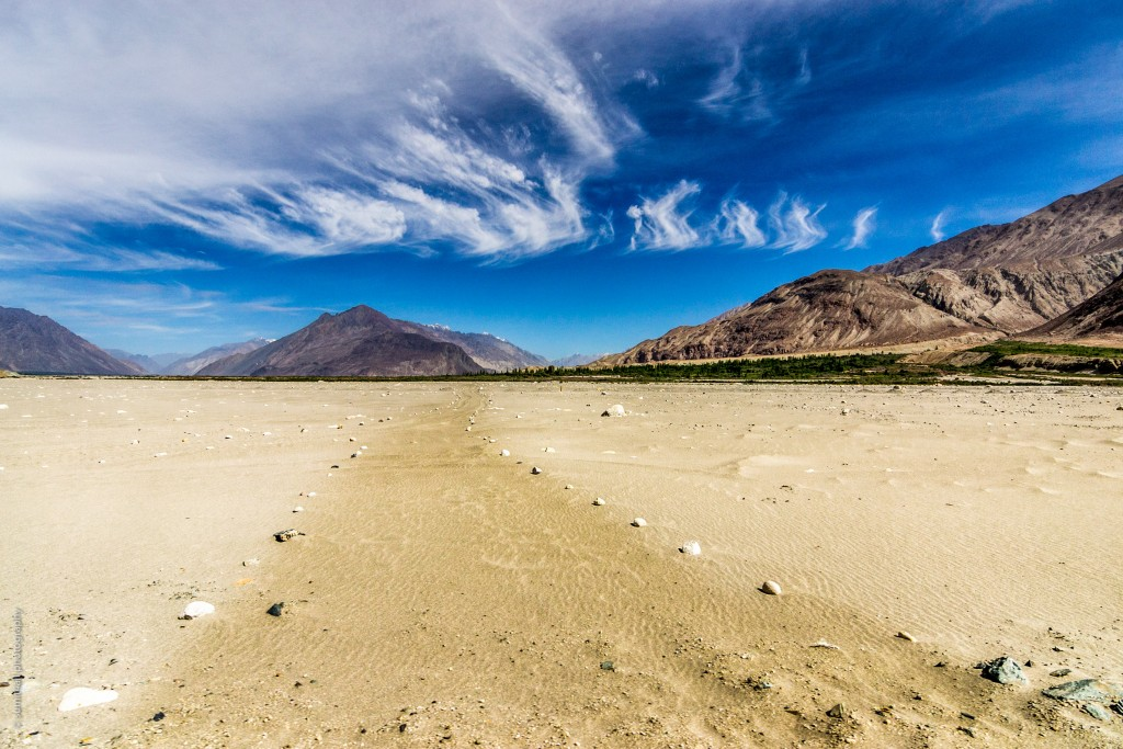 Barren Desert Landscape in Nubra Valley, Ladakh