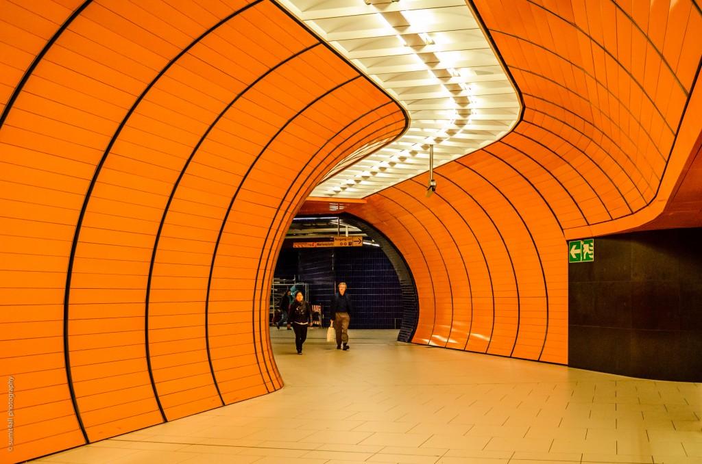 Pedestrian Tunnel at Marienplatz station
