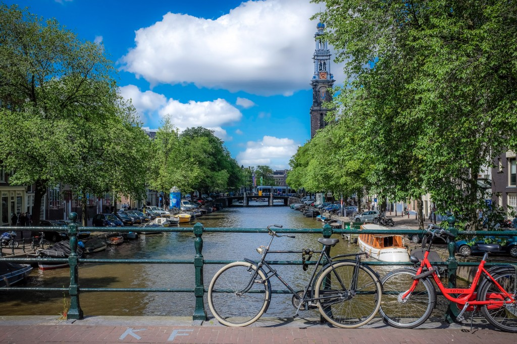 Typical Amsterdam Sight... Canals, Bridges and Bikes