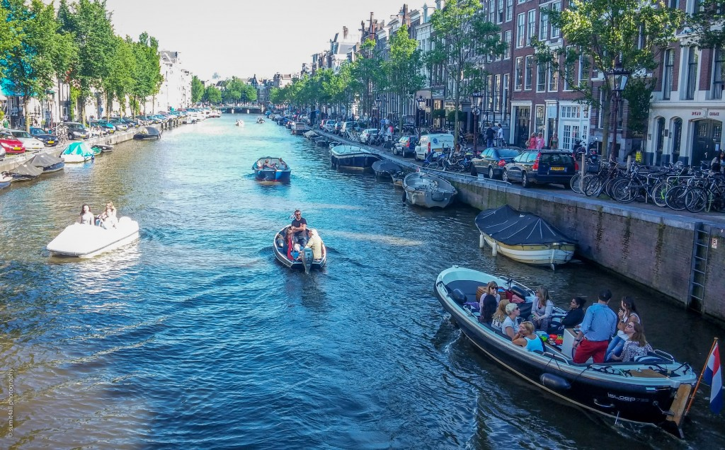 Canals filled with boats during summers