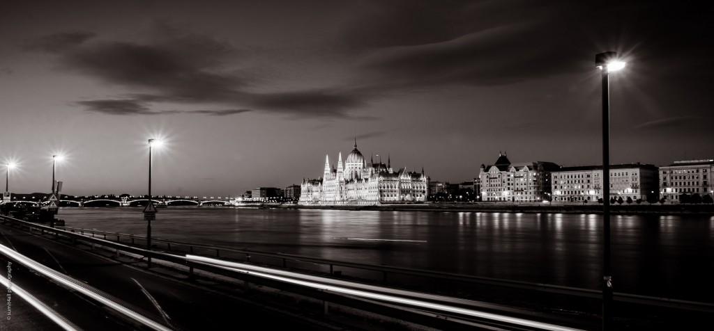 The Hungarian Parliament seen from across the Danube