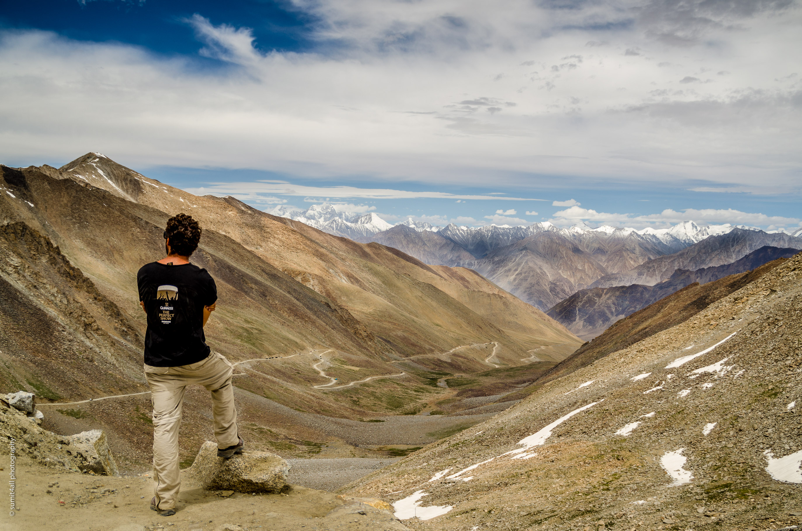 View from the Khardung La Pass at over 18000 feet
