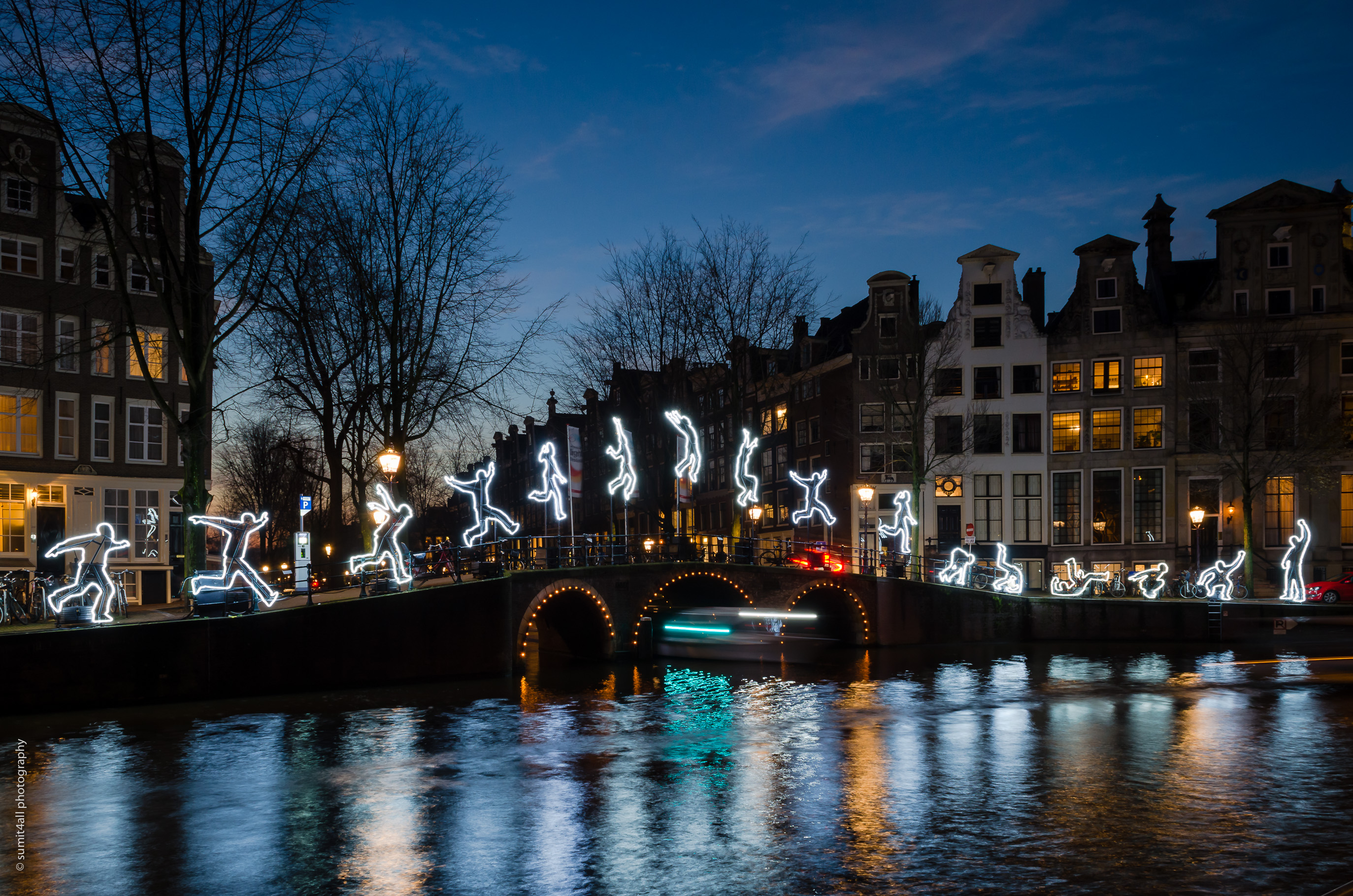 Art Installation during the winter Light Festival in Amsterdam