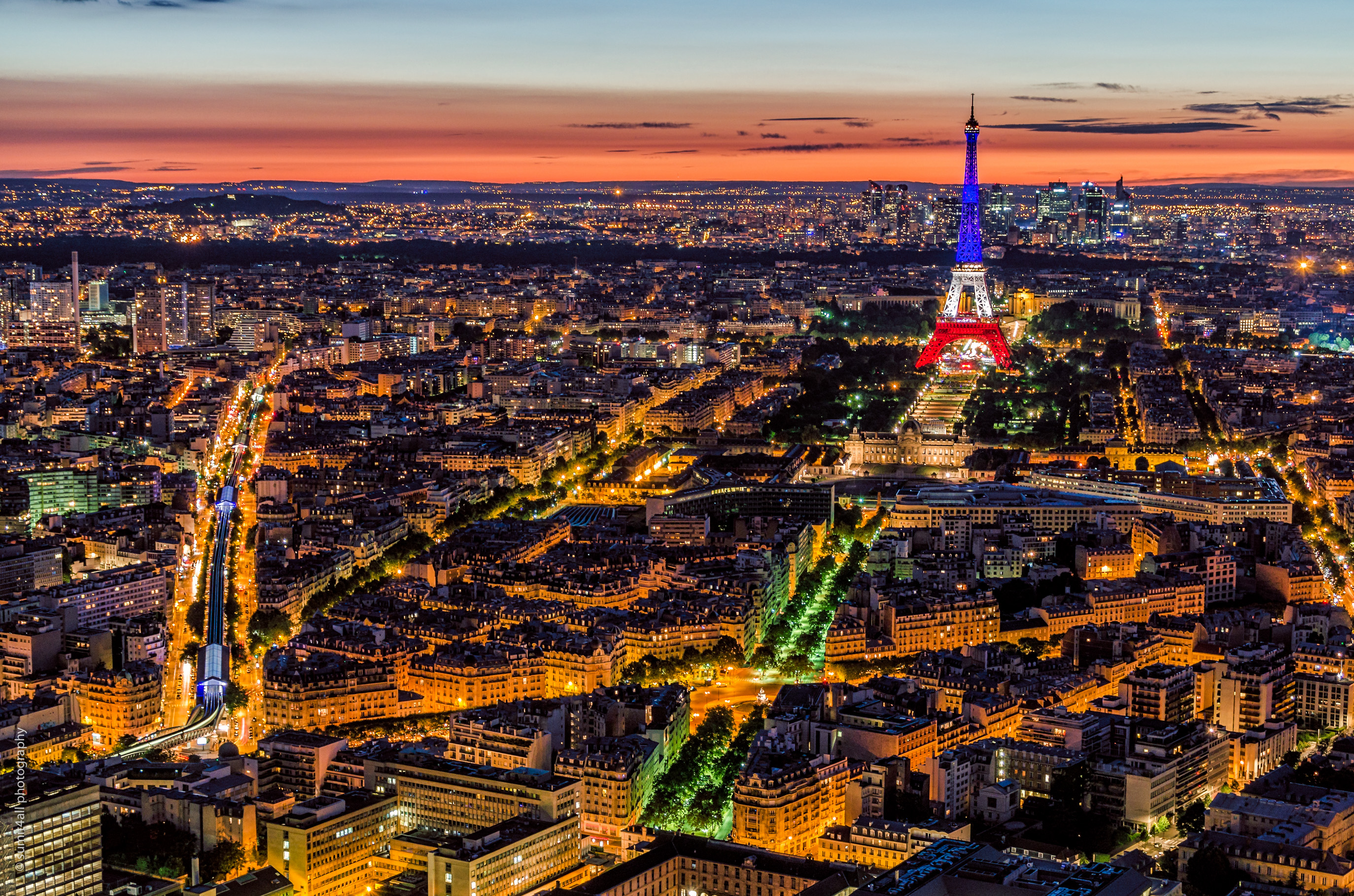 The Eiffel Tower in French Colors