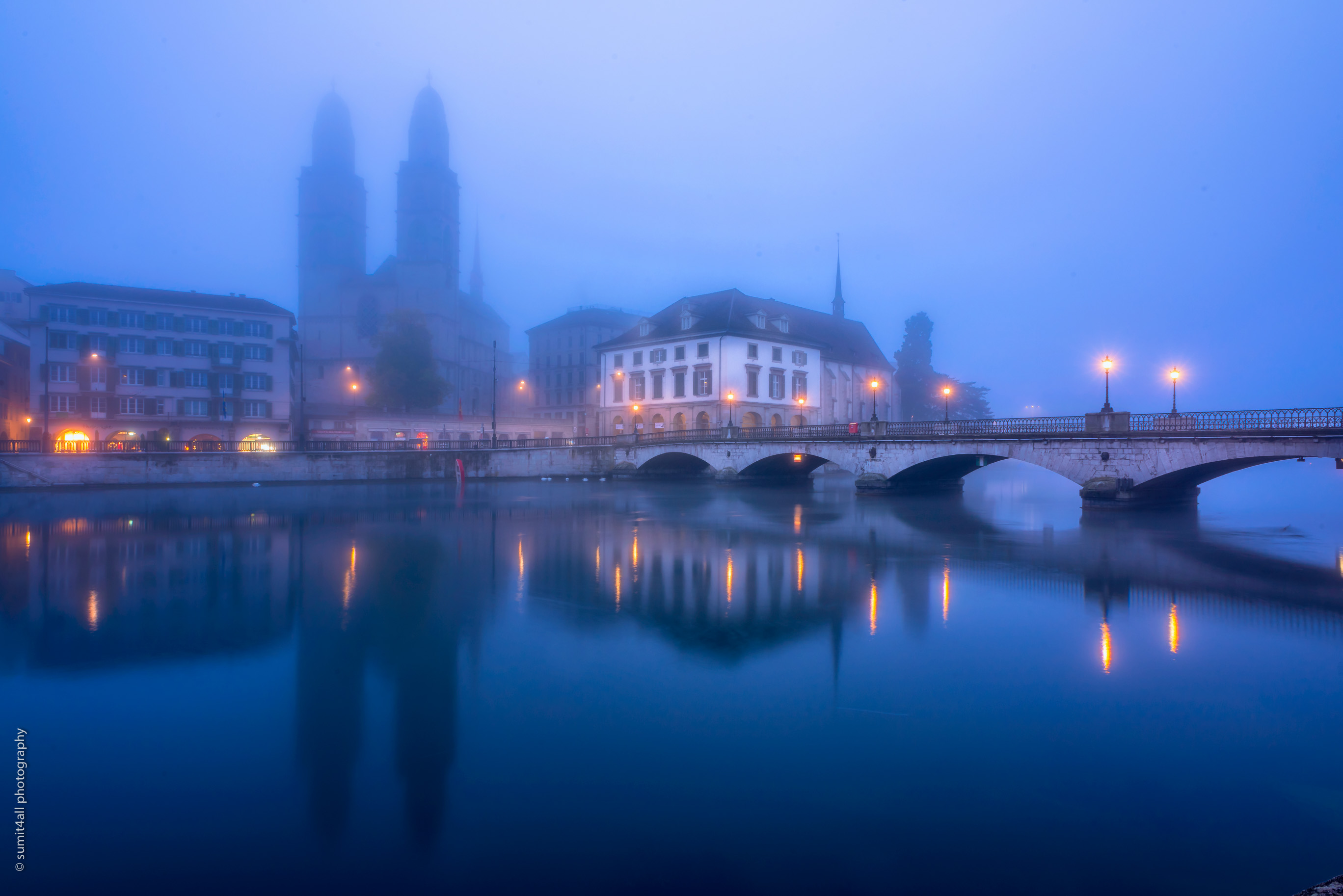 Early Morning Fog in Zurich