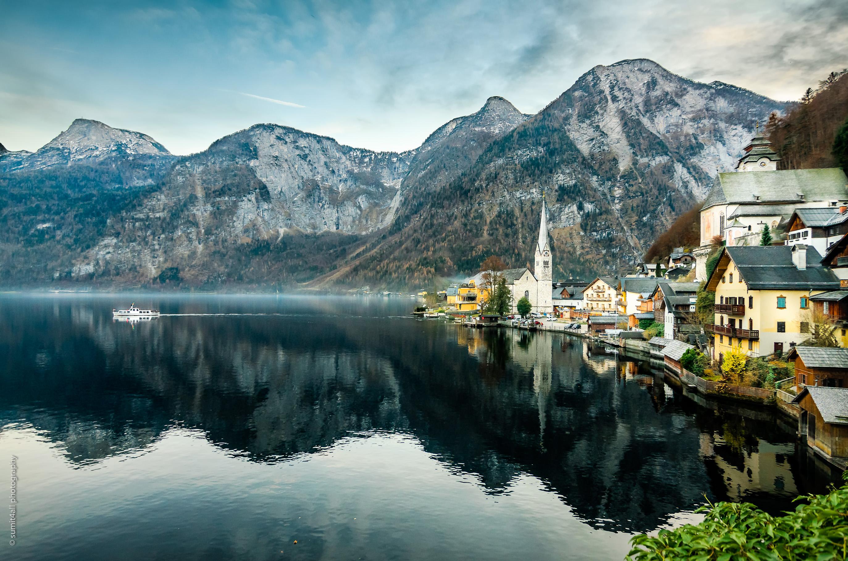 Small Town of Hallstatt, Austria