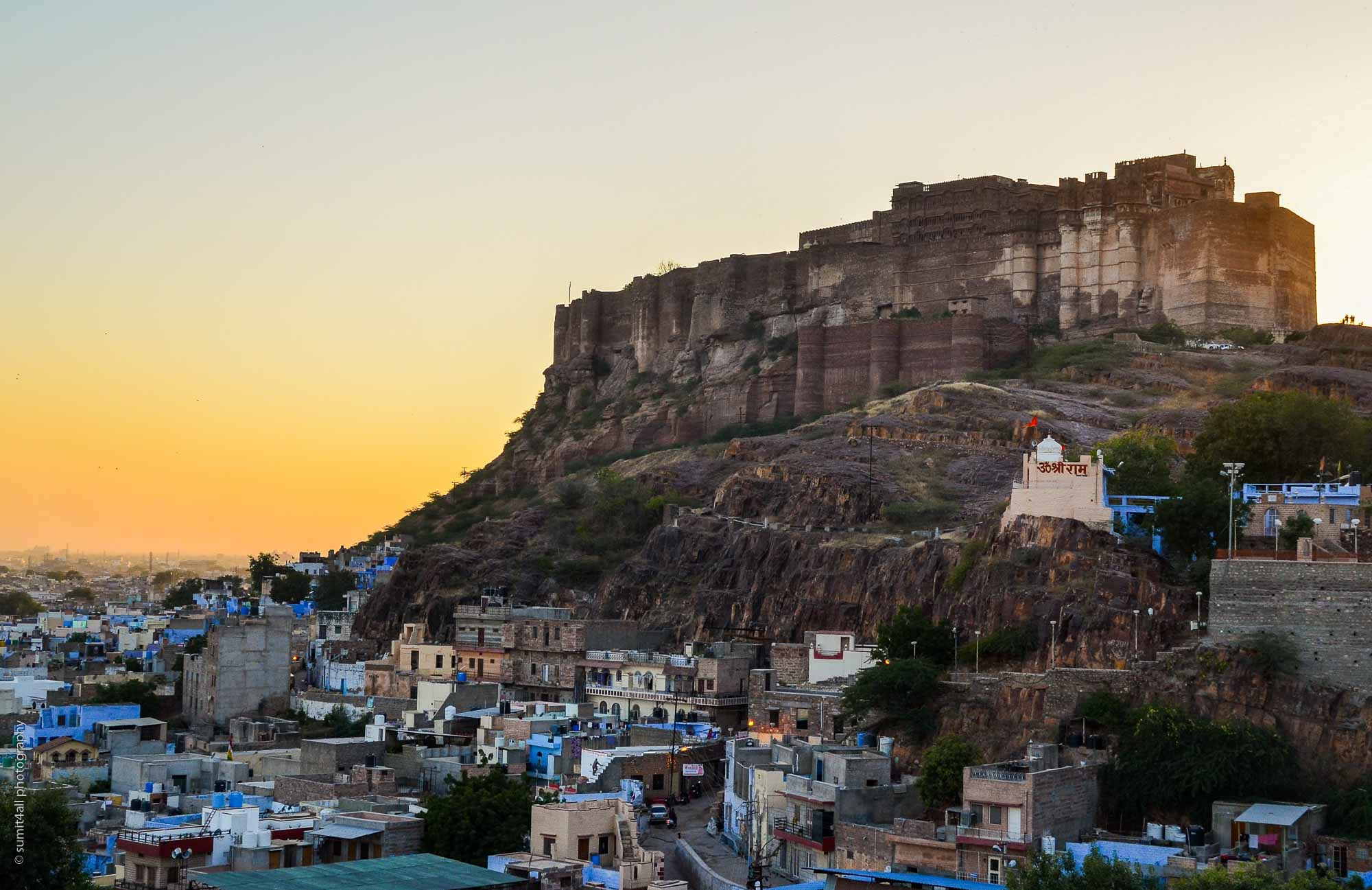 Sunset behind the Mehrangarh Fort Jodhpur