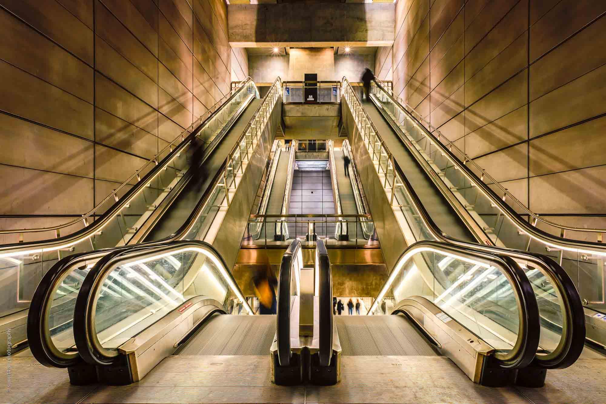 People at a Metro Station, Copenhagen, Denmark