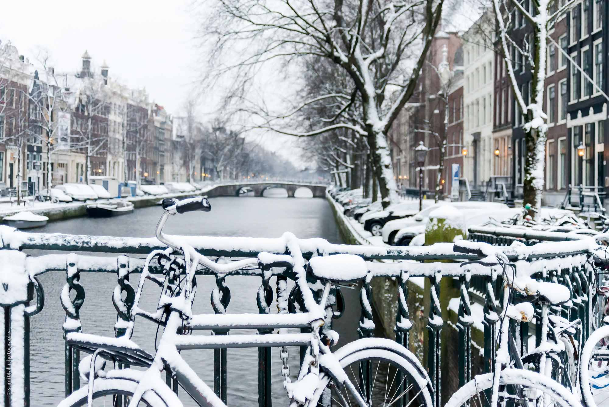 A Snowy Day in Amsterdam