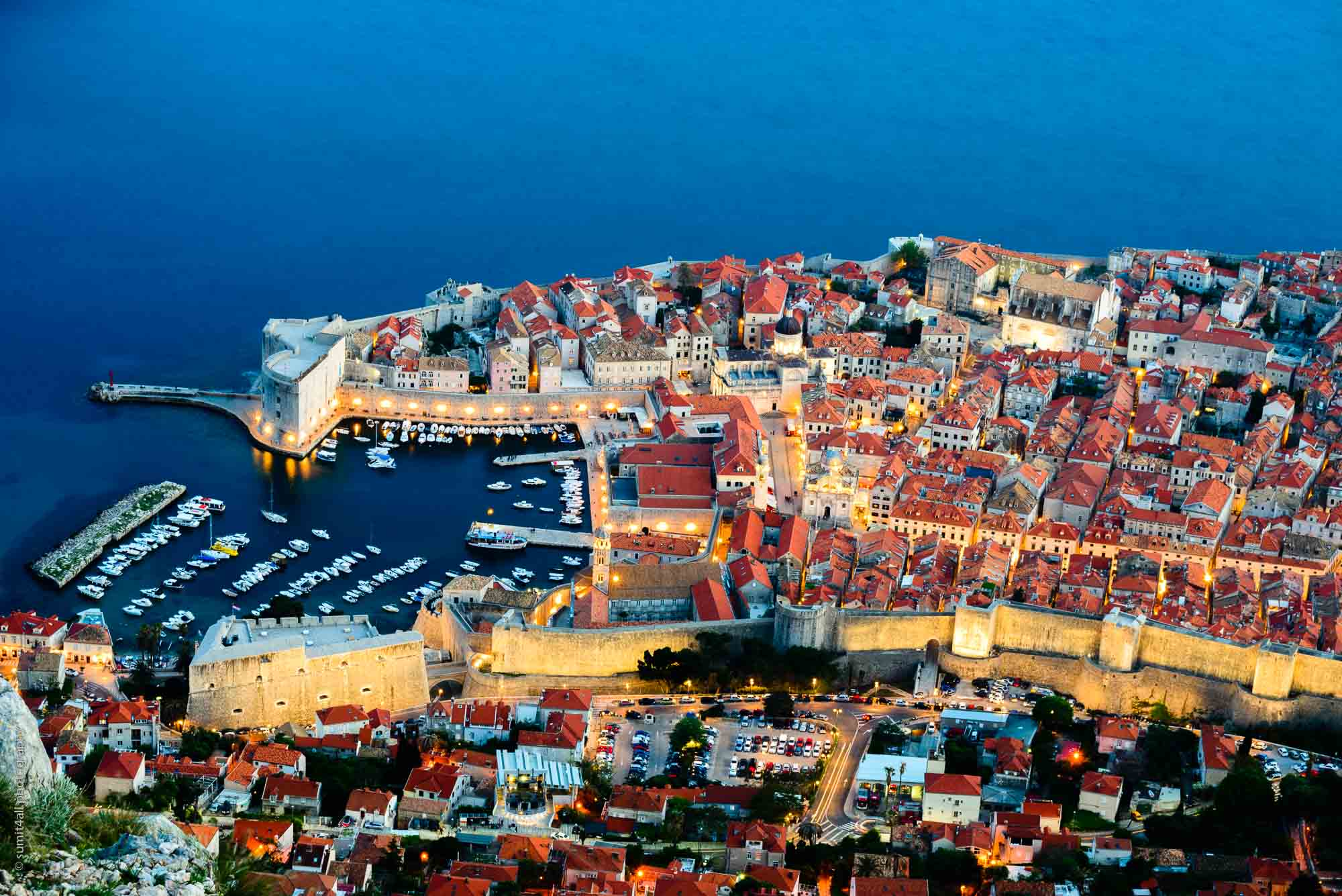 Evening colors in Dubrovnik, Croatia