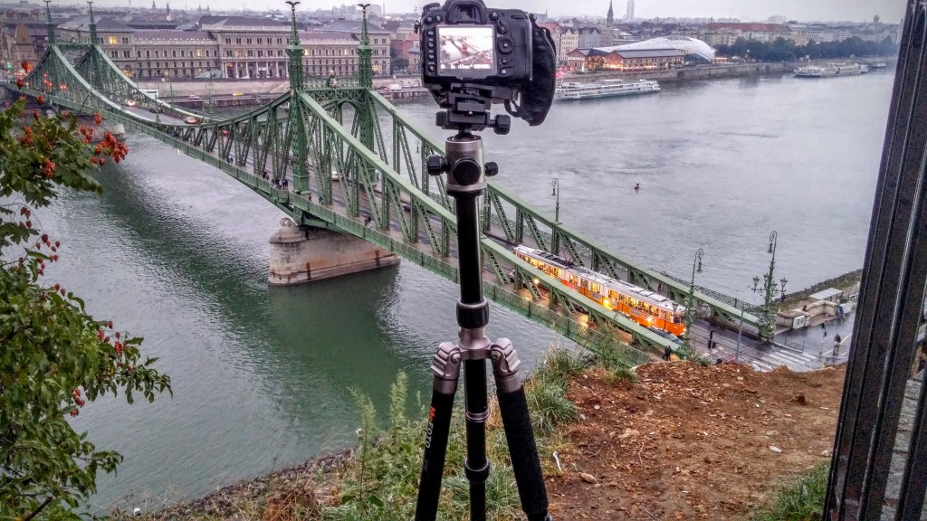 Behind the scene shot of the Liberty Bridge Image