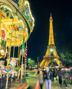 Carousel near Eiffel Tower, Paris