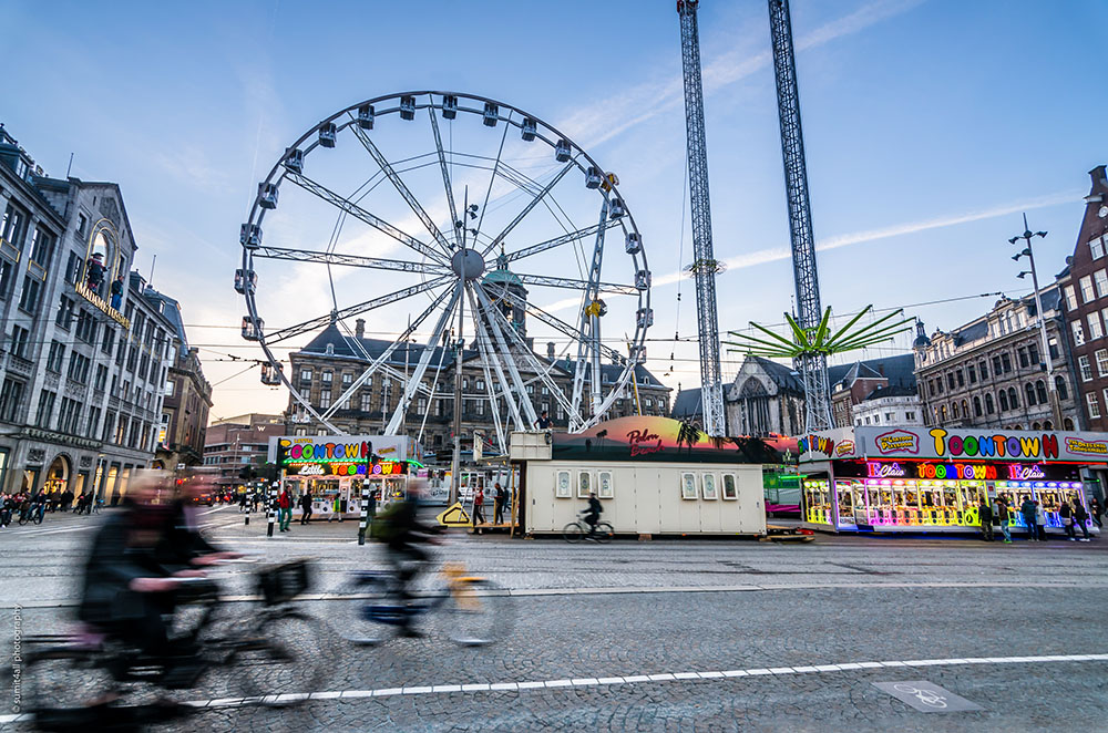 Giant Wheel at the Dam Square Amsterdam