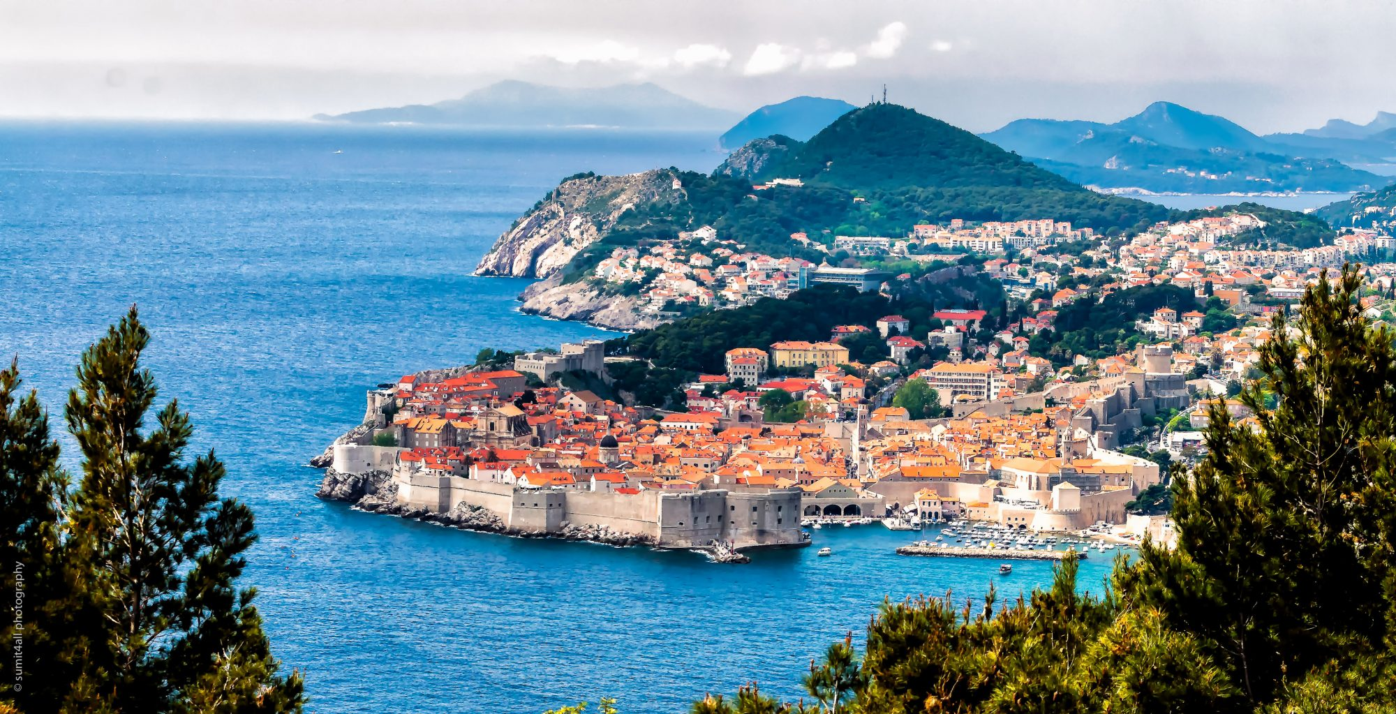 The beautiful city of Dubrovnik by the Adriatic Sea in Croatia