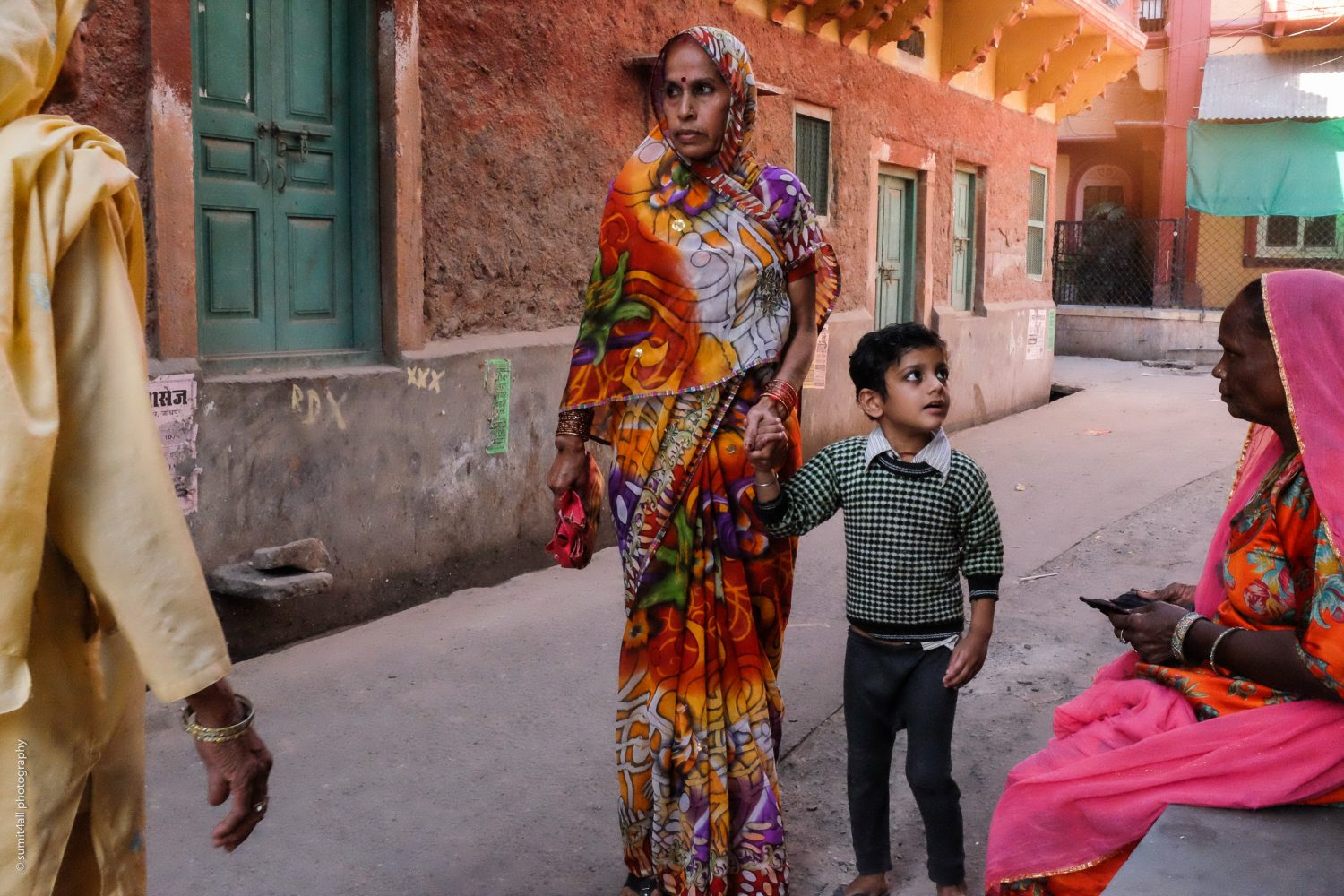 Colorful clothes of locals in Jodhpur, India