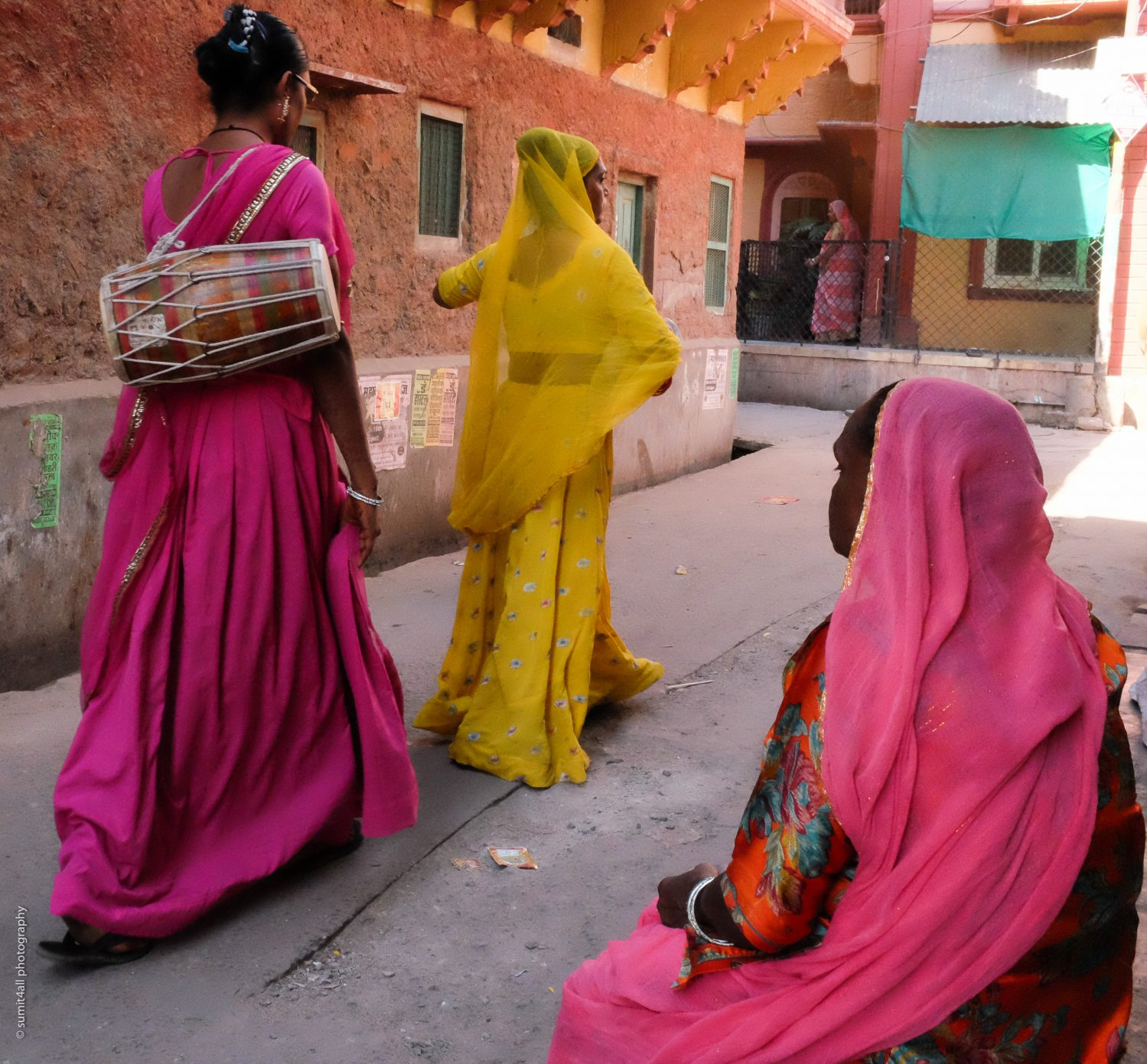 Colorful clothes of local women in Jodhpur, India