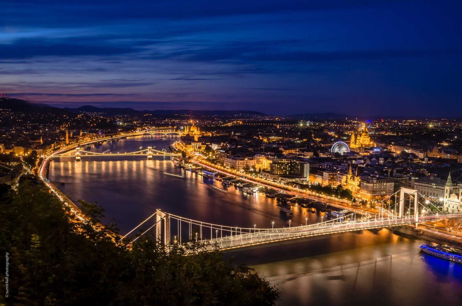 A view of Budapest from one of the hills in the city.