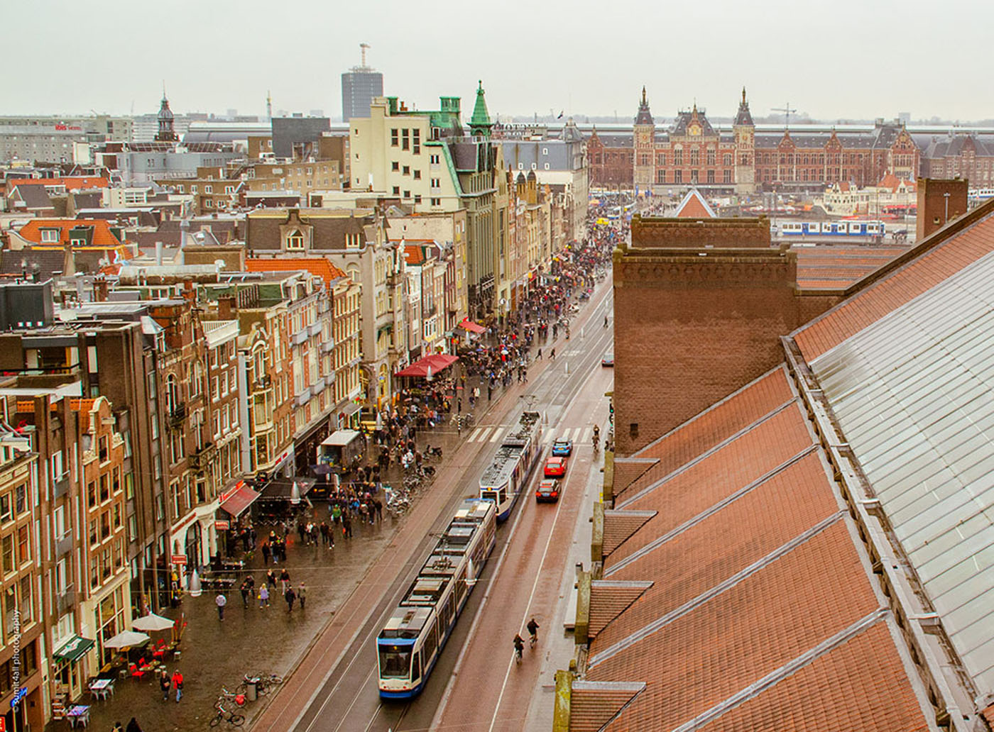 Amsterdam Centraal Station as seen from the Beurs Van Berlage