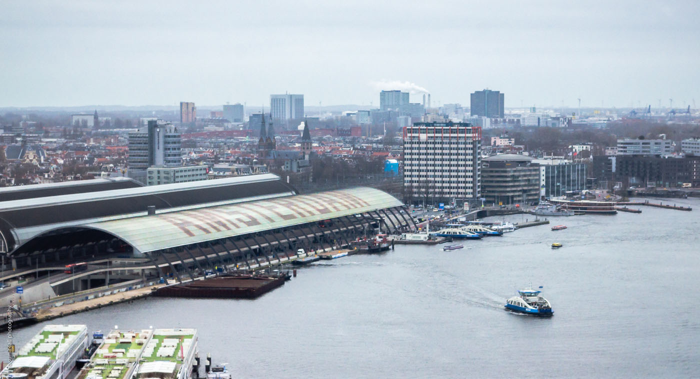 Amsterdam Centraal Station and a Ferry Across the IJ