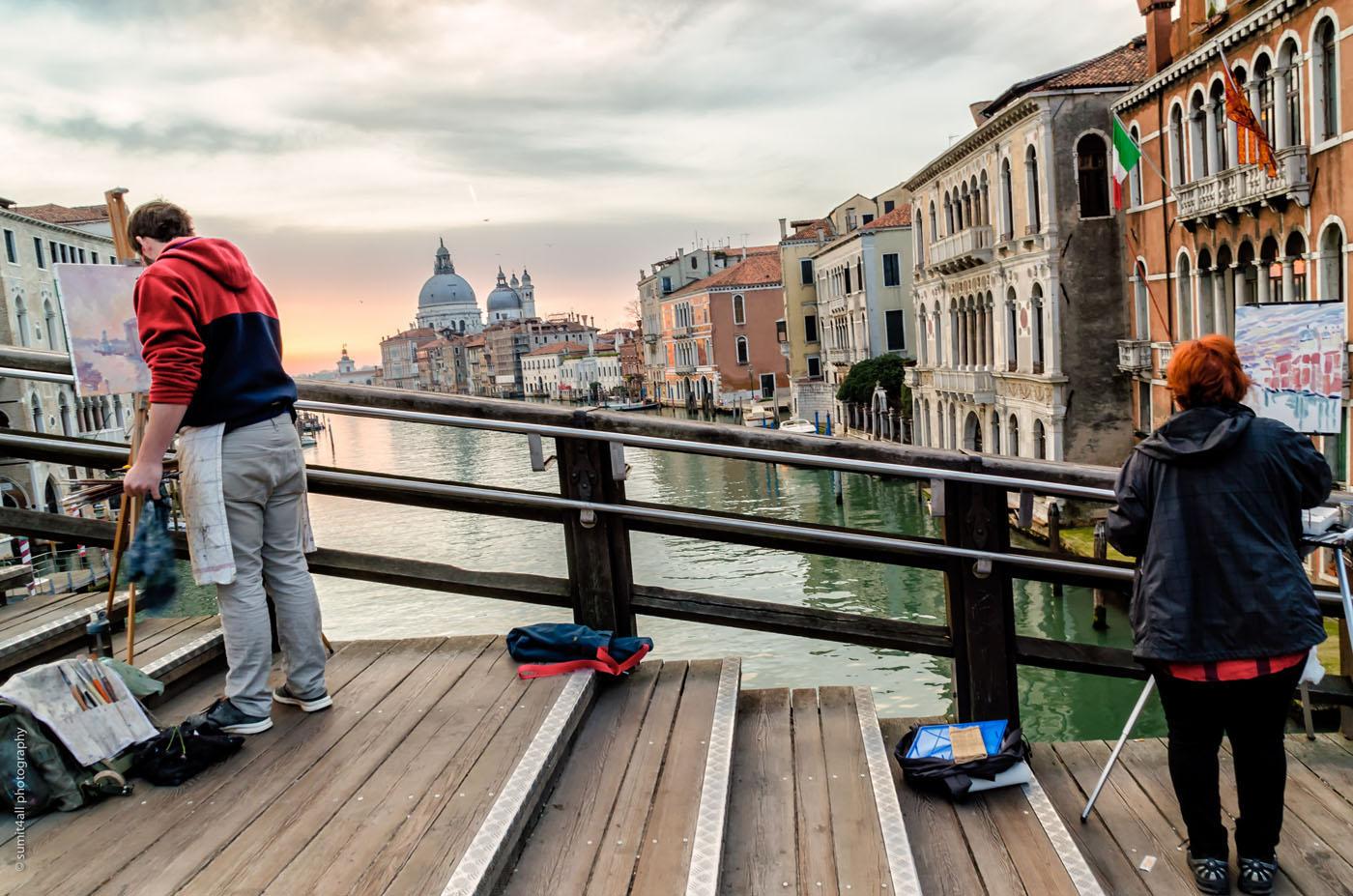 An artistic sunrise in Venice