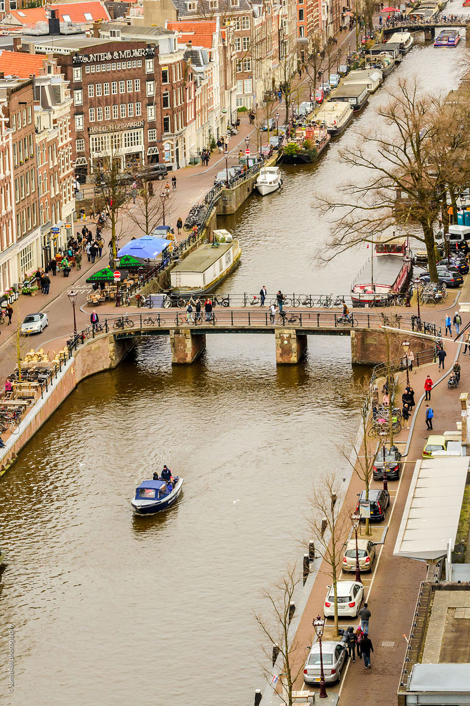 A Boat in the Prinsengracht Canal, Amsterdam