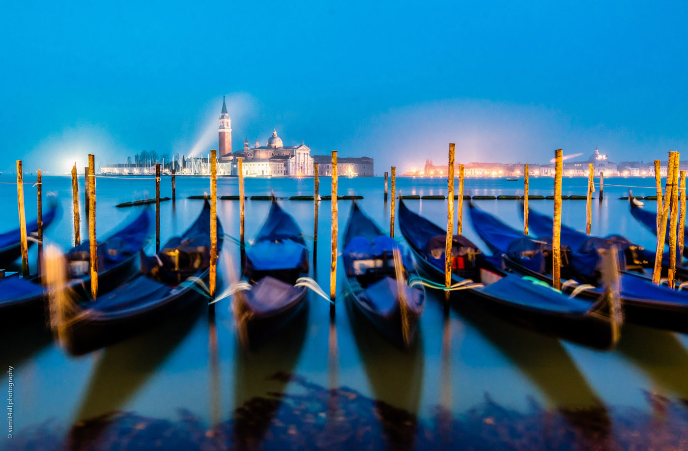 Gondolas and San Giorgio Church, Venice
