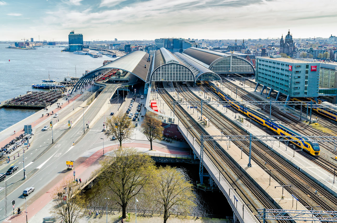 Overlooking the Amsterdam Centraal Station