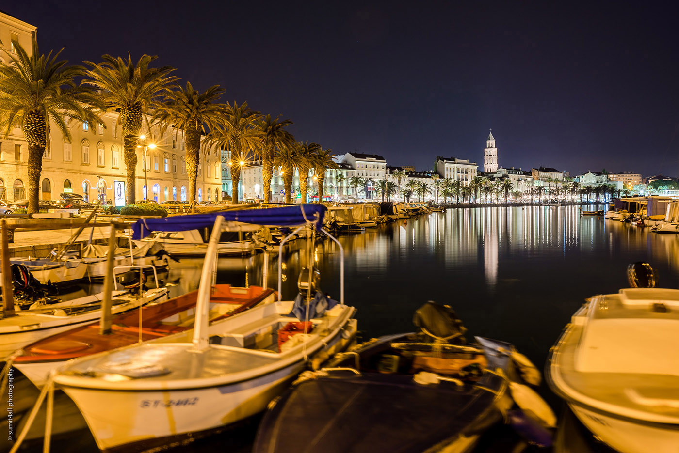 Late evening colors in Split, Croatia