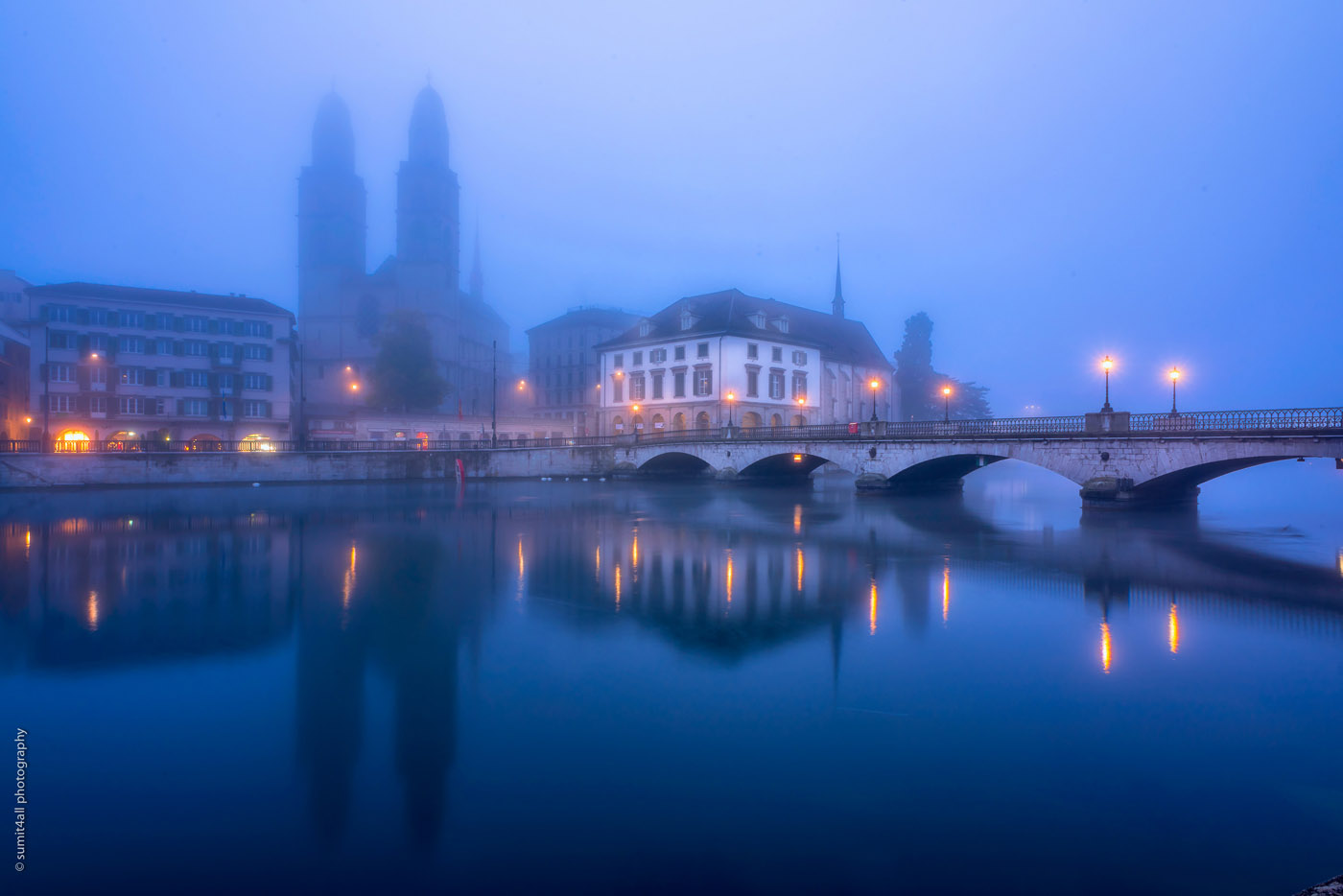 Foggy Morning, Zurich, Switzerland
