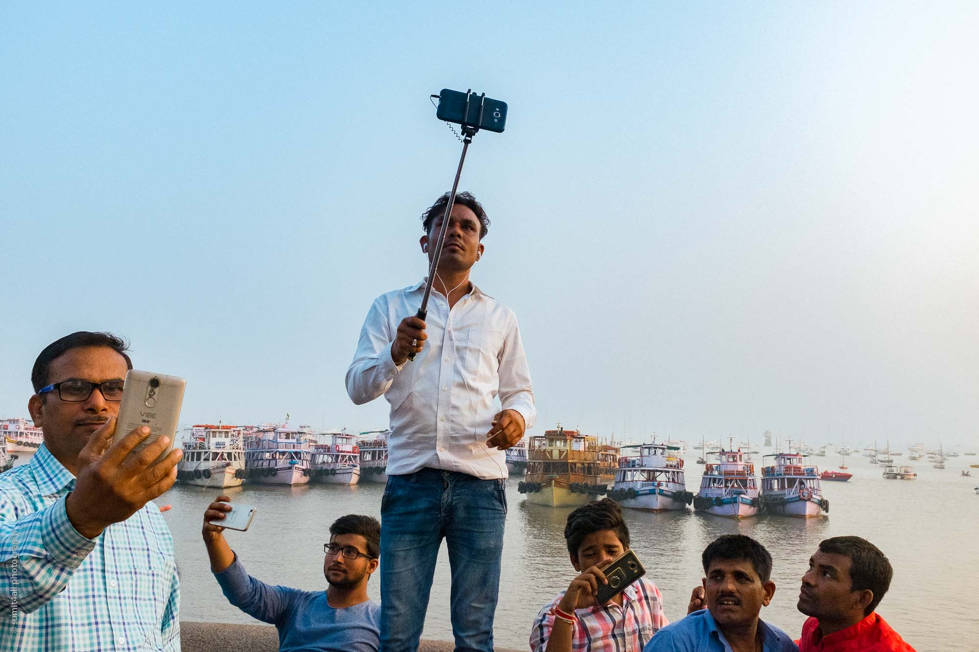 Selfie Mania by the Arabian Sea, Mumbai