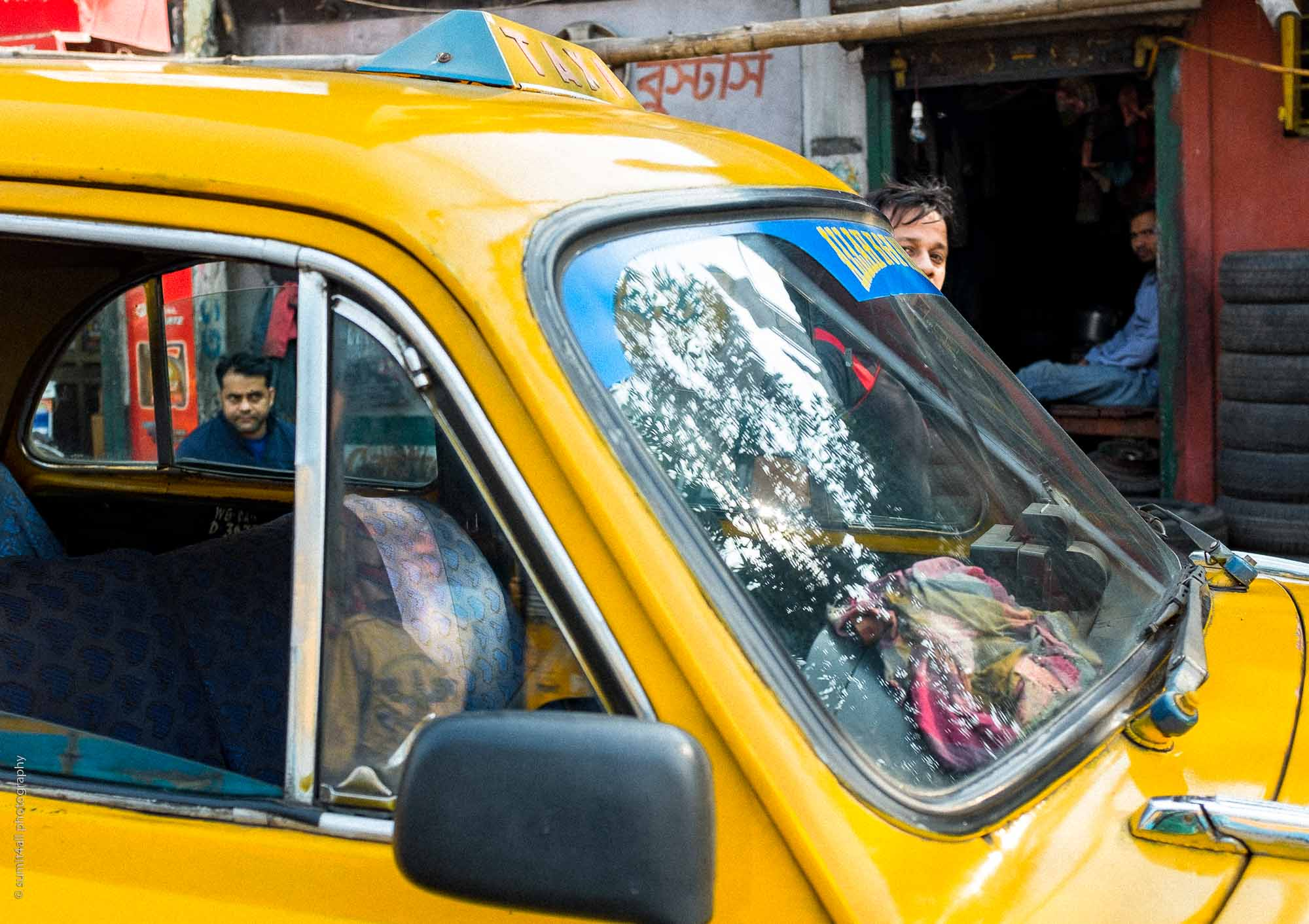 Yellow Taxi, Kolkata, India