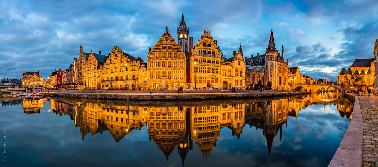 Ghent Reflections After Sunset