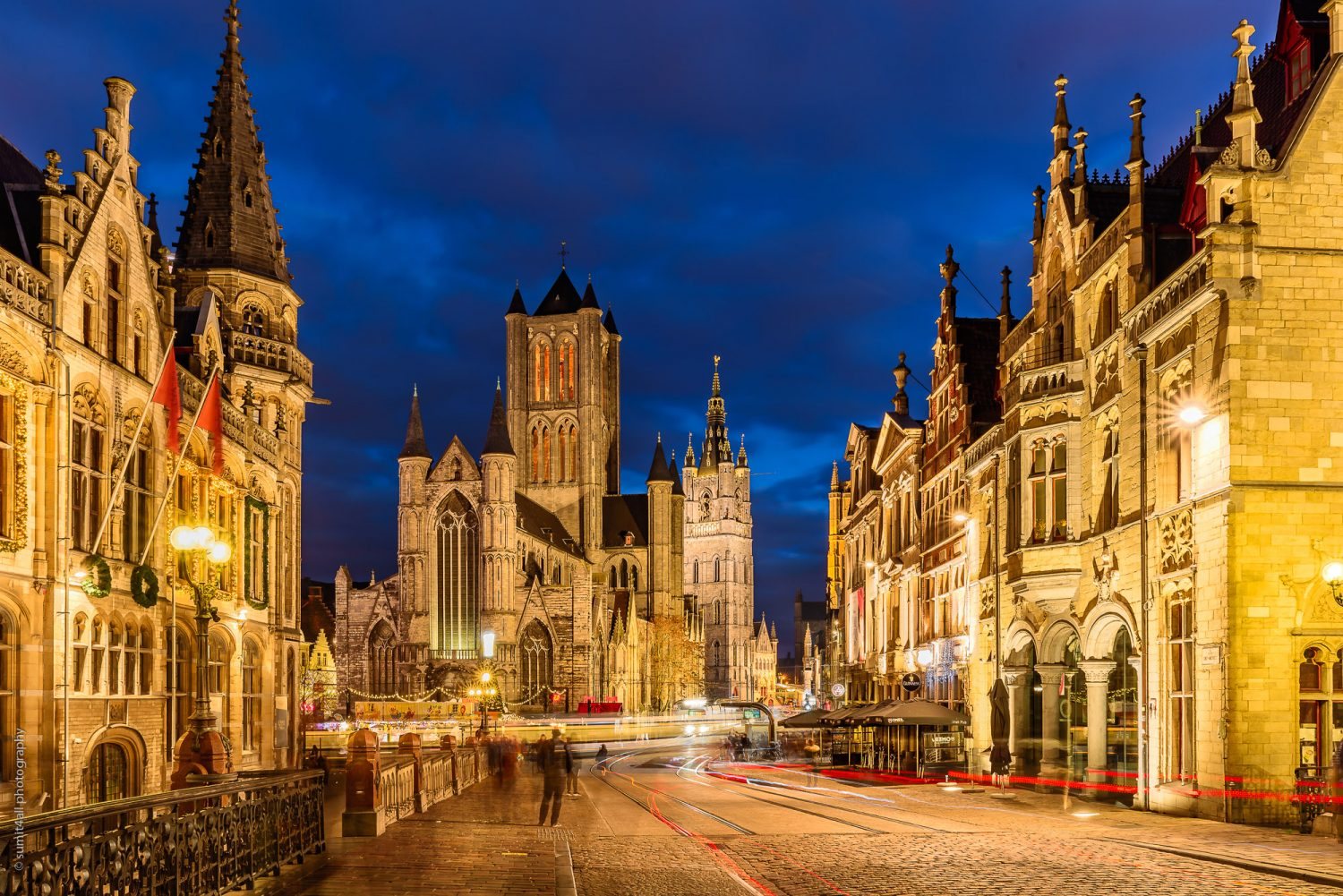 The Beauty of Ghent City After Sunset