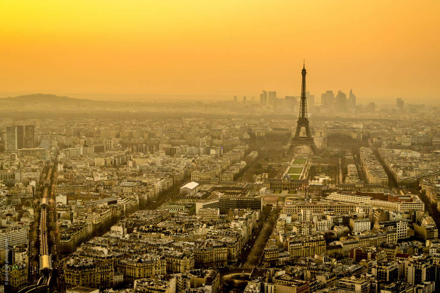 Paris Skyline from Montparnasse Tower