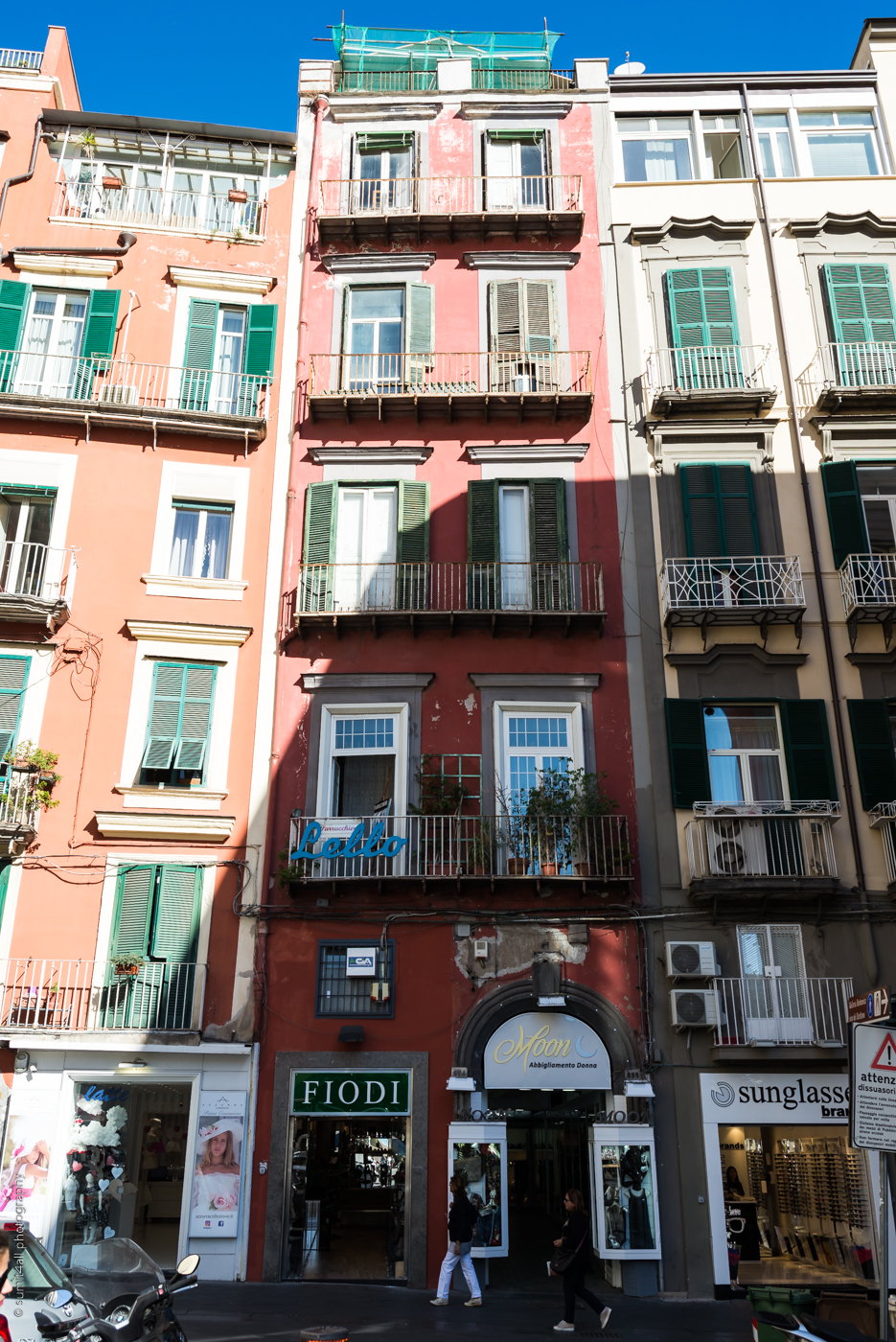 Worn Out Paint on Buildings in Naples, Italy