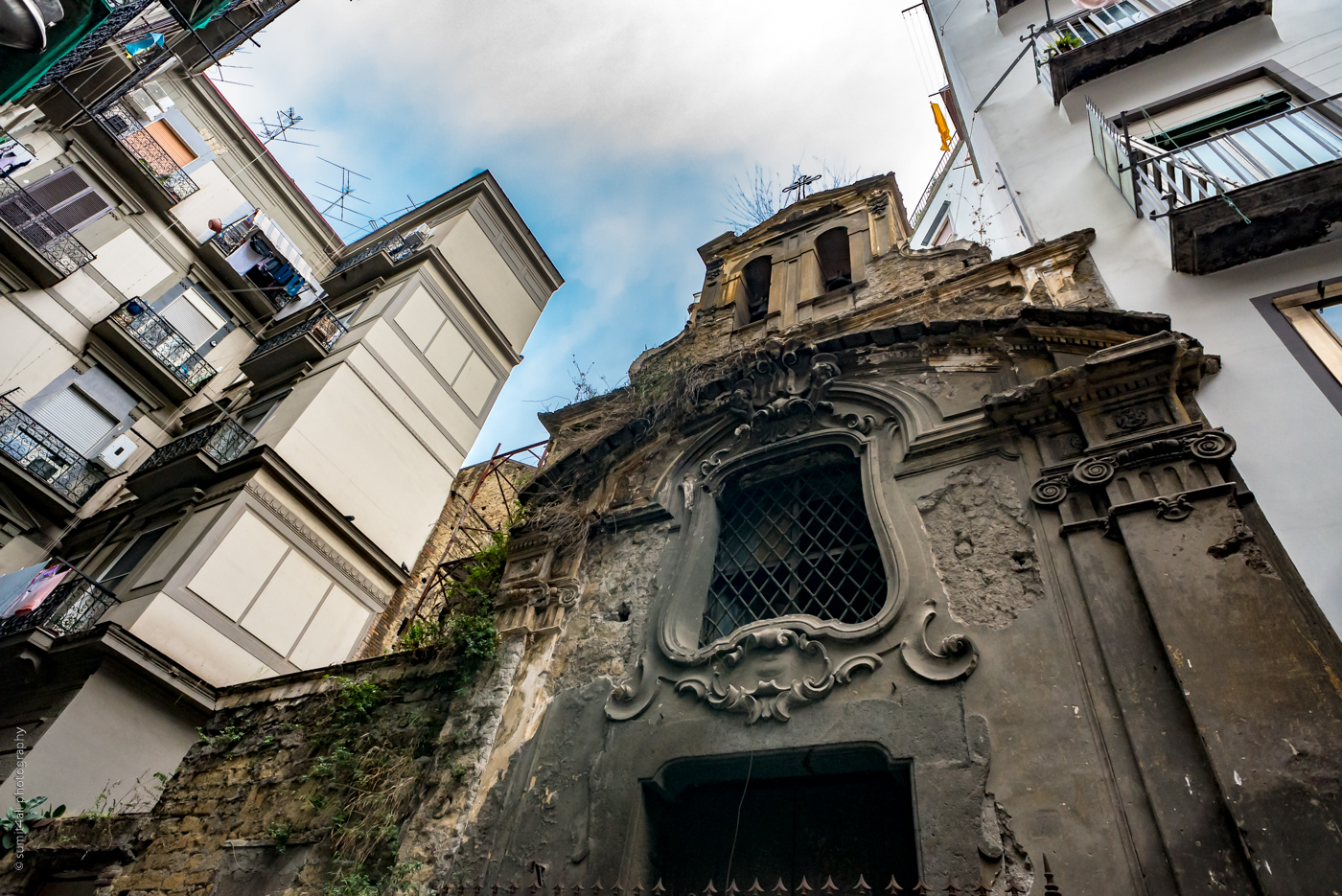 Old Buildings in a Historic City, Naples, Italy