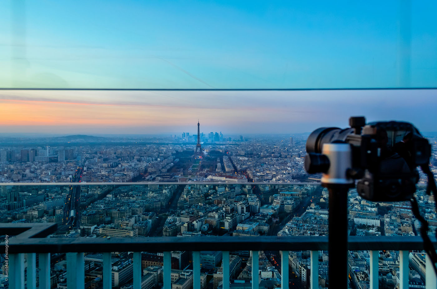 One of my favourite locations in Paris, the top of the 56 floor on Montparnasse Tower.