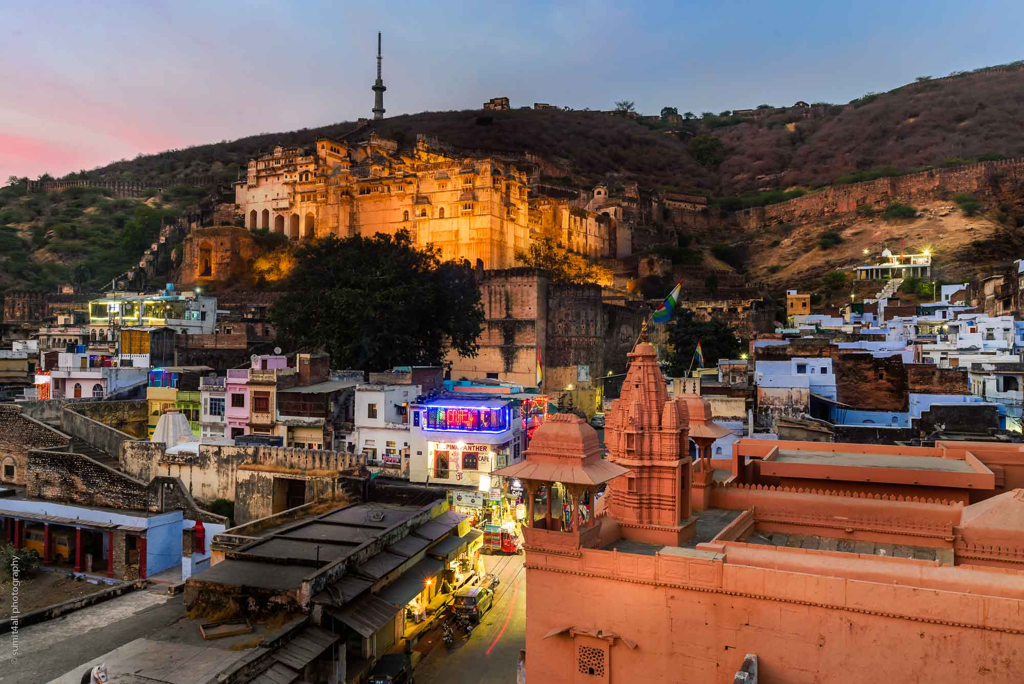 Sunset in Bundi, Rajasthan