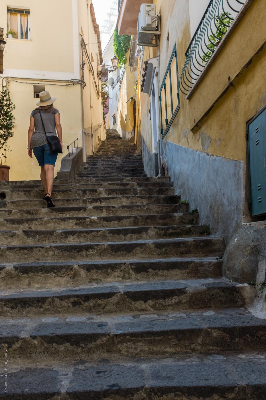 Narrow Stairs in Positano, Amalfi Coast